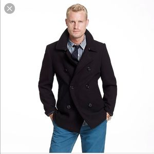 J Crew thinsulate lined, stadium cloth peacoat